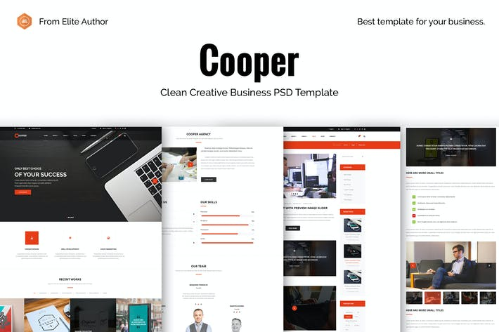 Thumbnail for Cooper - Corporate Business PSD Template