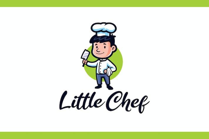 Thumbnail for Cartoon Little Kid Chef Mascot Logo