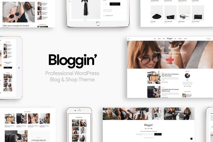 Thumbnail for Blggn - A Responsive Blog & Shop WordPress Theme
