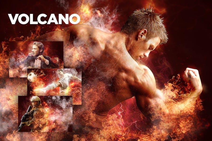 Volcano CS3+ Photoshop Acción