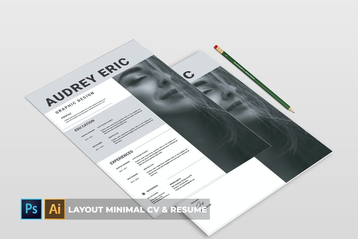 Thumbnail for layout minimal | CV & Resume