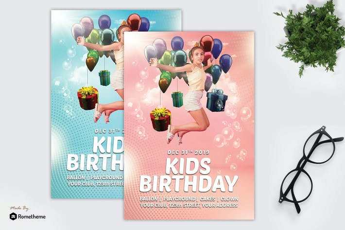 Thumbnail for Kids Birthday Party - Flyer MR