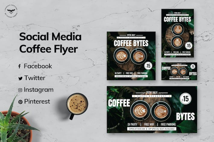 Thumbnail for Cafe Social Media Template