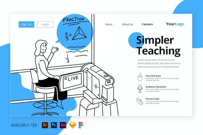 Thumbnail for Teaching Online - Simple Outline Illustration