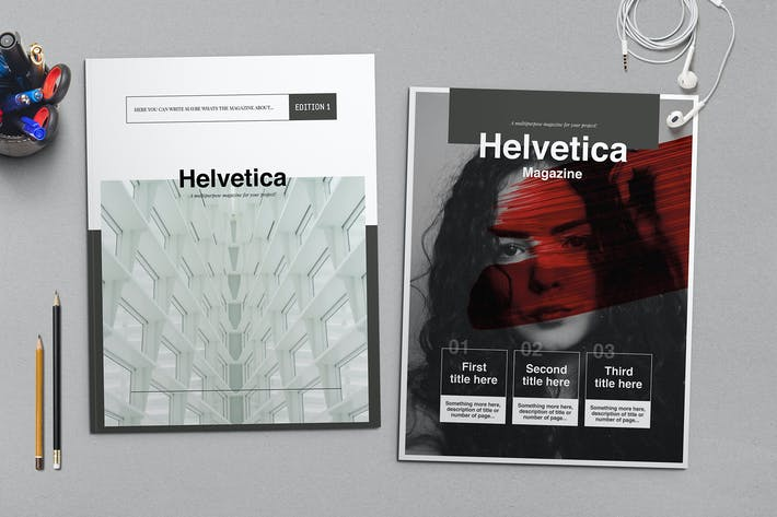 Thumbnail for Helvetica Magazine Indesign Template