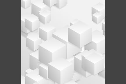 Abstract tech geometric 3d background
