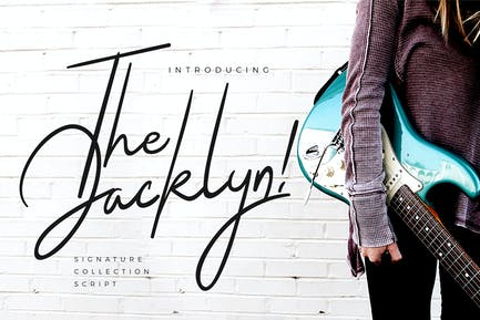 The Jacklyn Signature Business Font