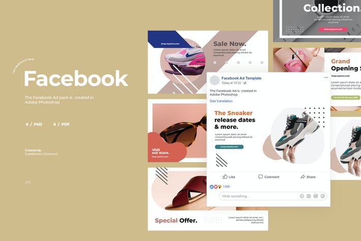 Thumbnail for Facebook Ad Template Vol.6