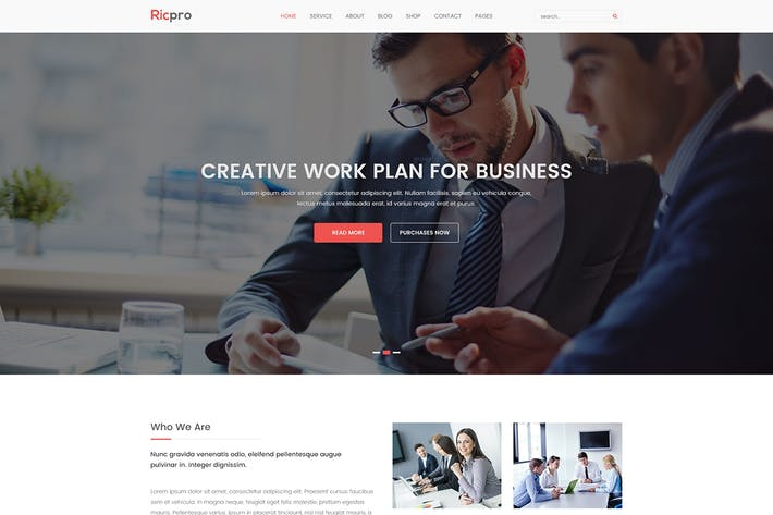 Thumbnail for Ricpro - Corporate PSD Template