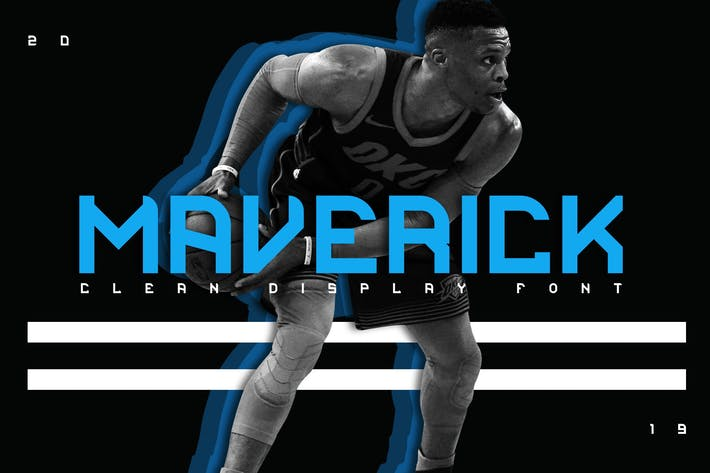 Thumbnail for Maverick Clean Display Font