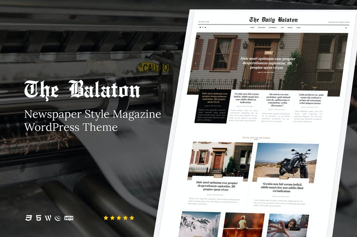 Thumbnail for Balaton - Newspaper style Magazine WordPress Theme