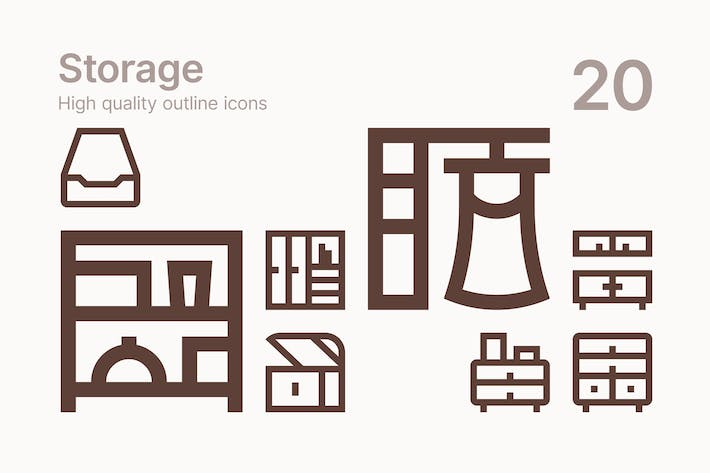 Home Storage Icons