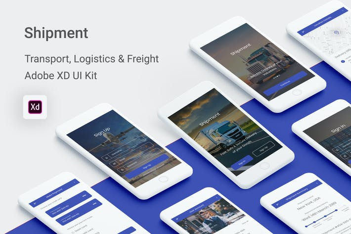 Thumbnail for Shipment -Transport, Logistic & Freight (Adobe XD)