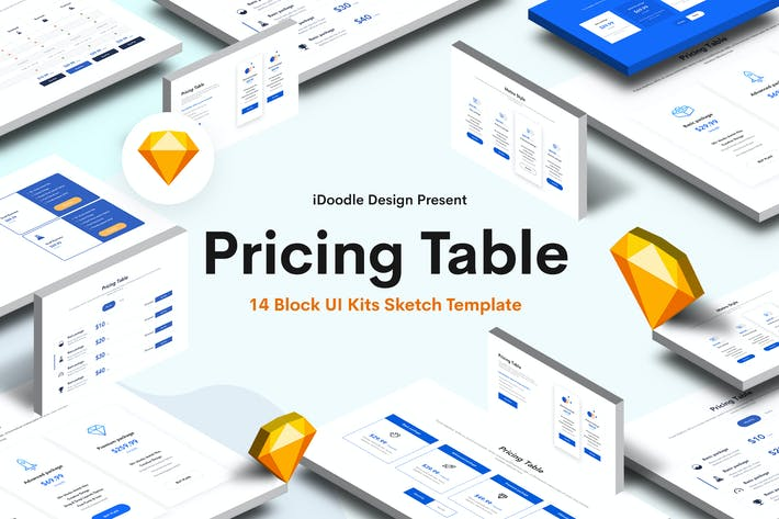 Thumbnail for Pricing Table Sketch Block UI Kits Design