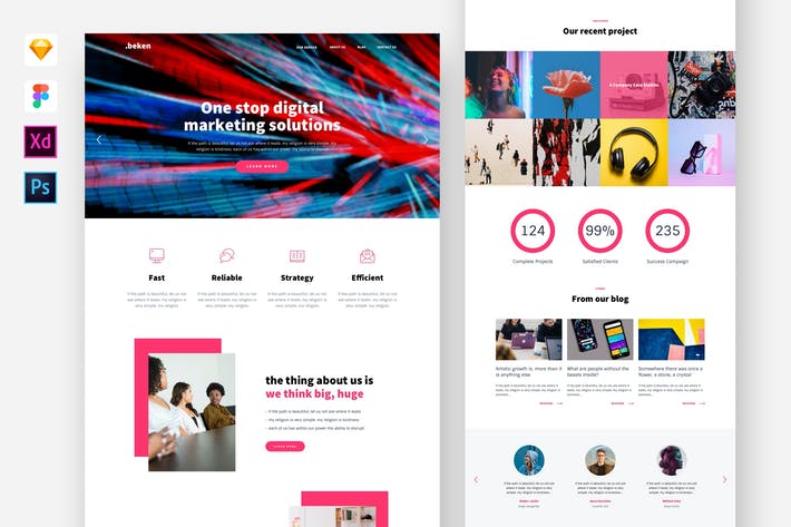 Thumbnail for Beken- Digital Agency Website Template