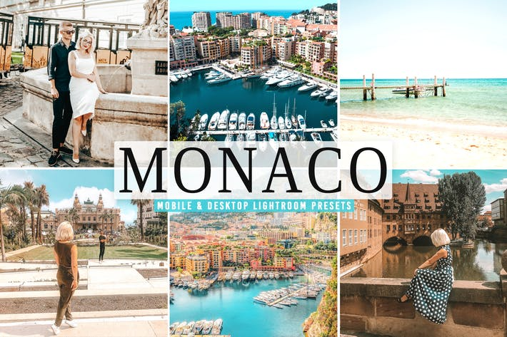 Preview image 1 for Monaco Mobile & Desktop Lightroom Presets