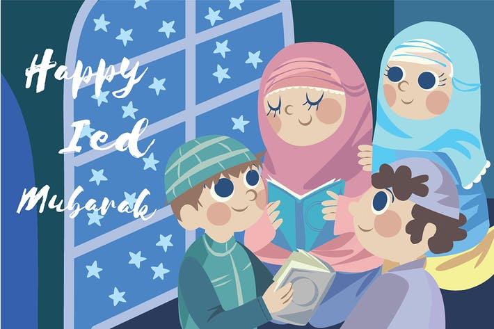 Thumbnail for Ied Mubarak 2nd - Vector Illustration