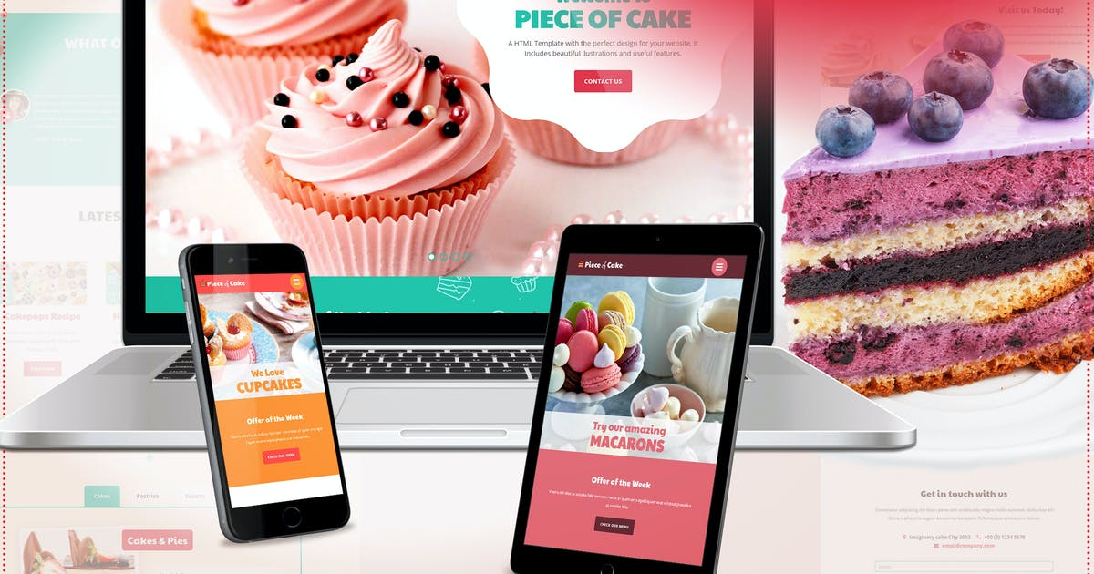 Download Piece of Cake - Responsive HTML5 Template by ingridk