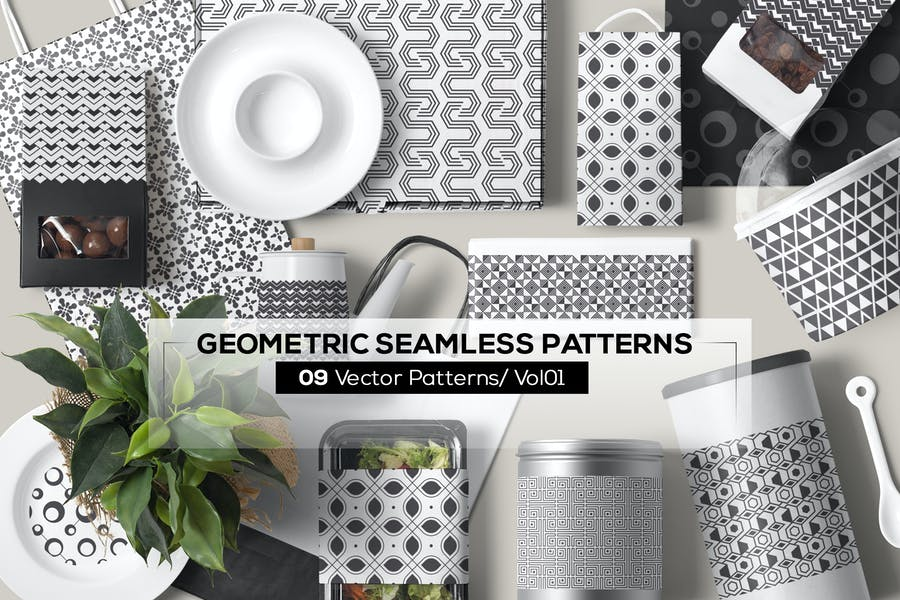 09 Geometric Seamless Patterns