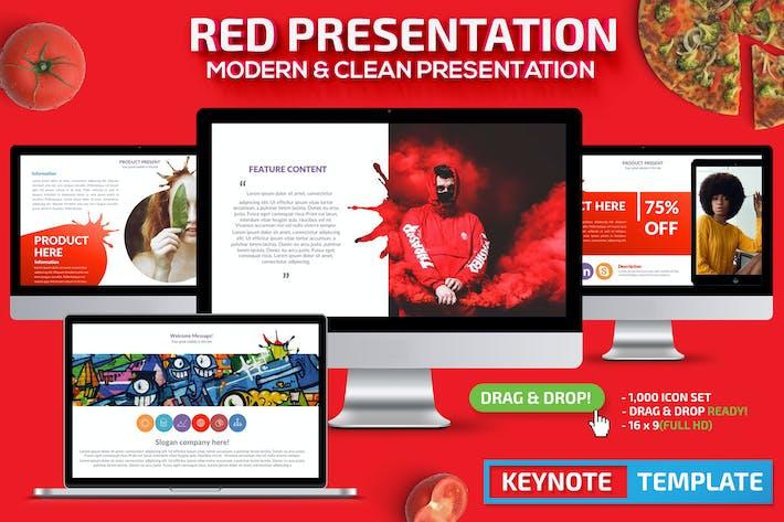 Красный Шаблон презентации Keynote