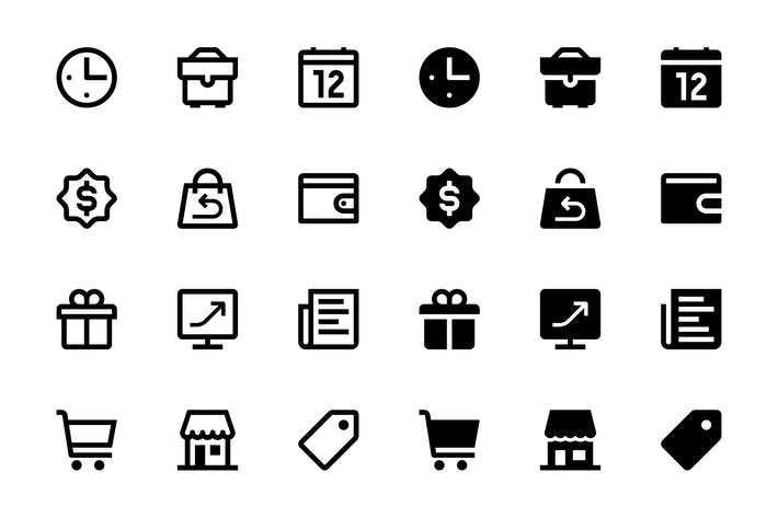 Thumbnail for 66 Finance, Business and Marketing icons