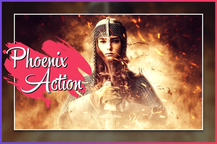 Thumbnail for Phoenix CS4+ Photoshop Action