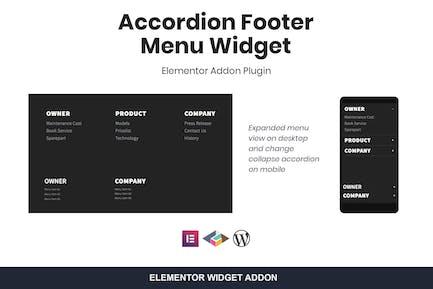 Accordion Footer Menu Widget For Elementor