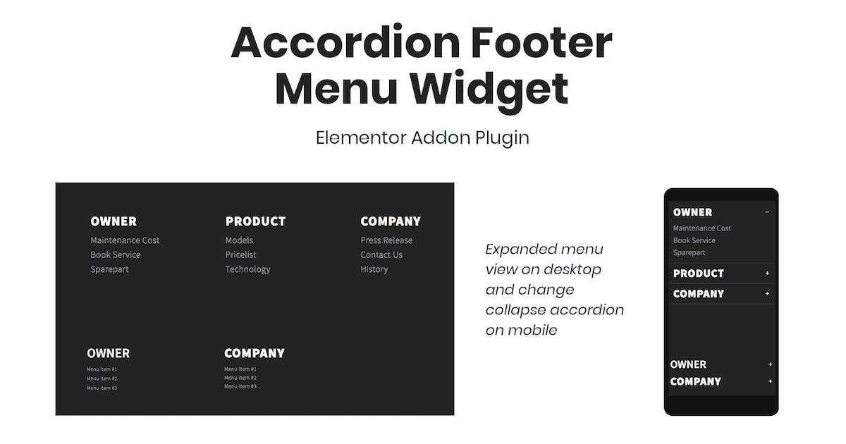 Download Accordion Footer Menu Widget For Elementor by TemeGUM