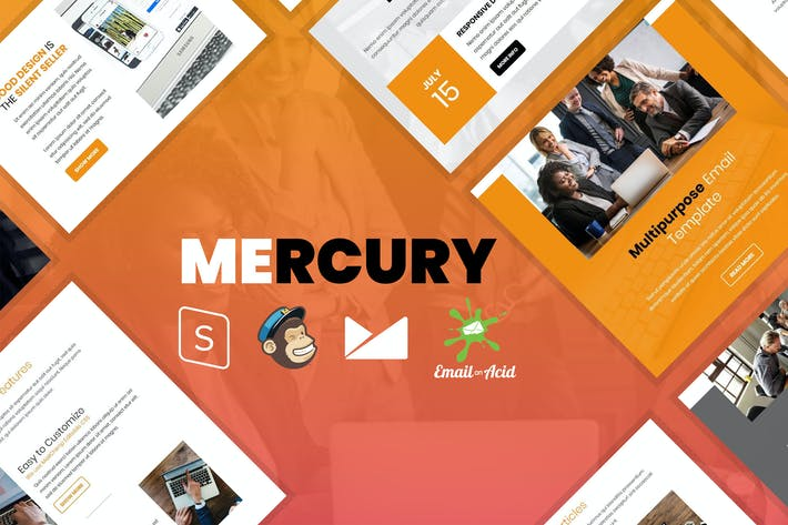 Thumbnail for Mercury - Responsive Email Template for Startups