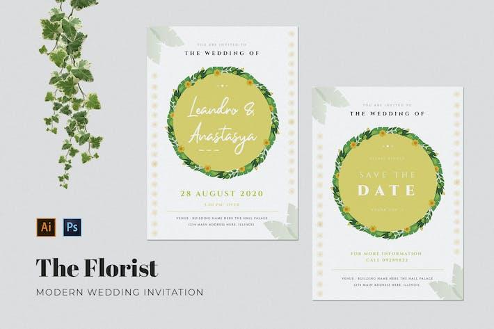 Thumbnail for Florist Wedding Invitation