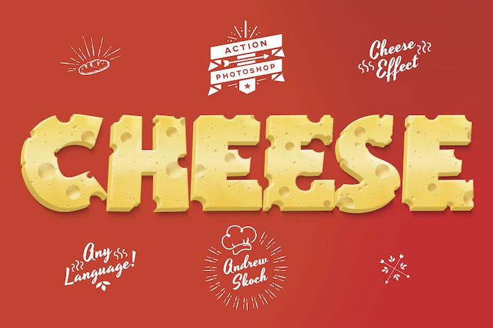 Thumbnail for Cheese Photoshop Action