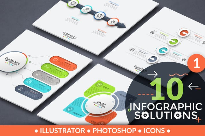 Thumbnail for 10 Infographic Solutions. Part 1