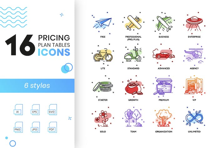 Thumbnail for Pricing Plan Icons