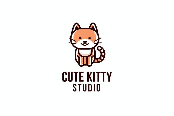 Thumbnail for Cute Kitty Studio Logo Template