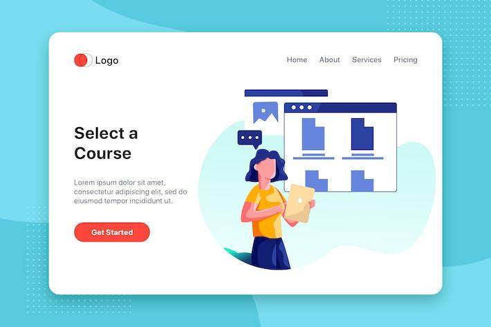 Thumbnail for Online E-learning Illustration concept