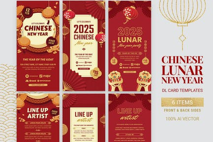 Chinese Lunar New Year Flyer Templates.
