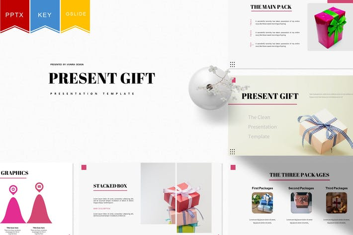 Thumbnail for Present Gift | Powerpoint, Keynote, Google Slides