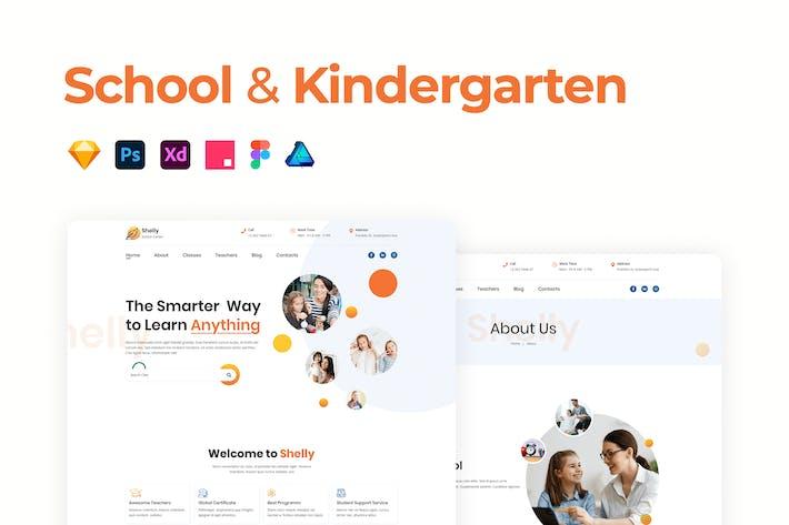 School & Kindergarten Template