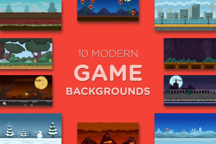 Cover Image For 10 Modern Game Backgrounds