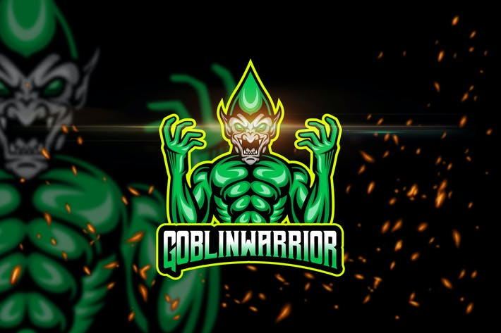 Goblin Warrior - Esport & Mascot Logo Template
