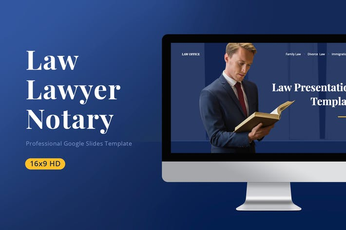 Thumbnail for Law Google Slides Template