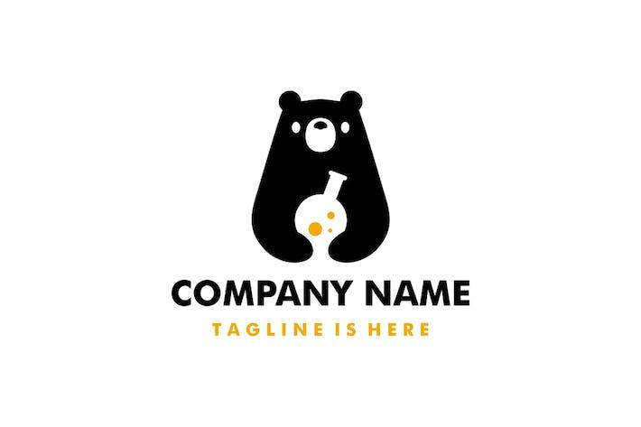 Bear Lab Negative Space Logo
