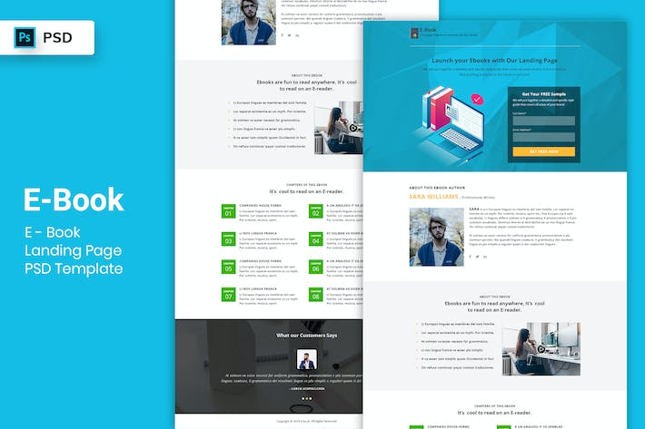 Thumbnail for Ebook - Landing Page PSD Template-03