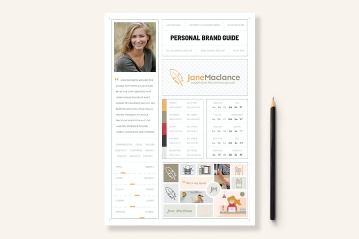 Thumbnail for One Page Personal Brand Style Guide