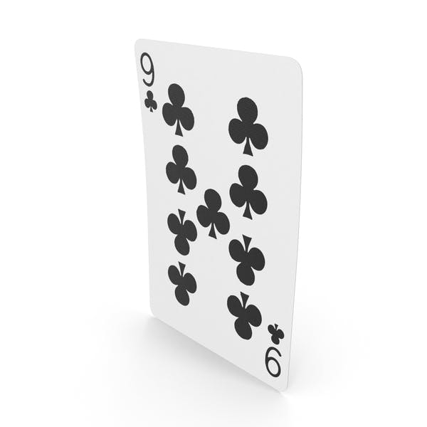 Playing Cards 9 Clubs