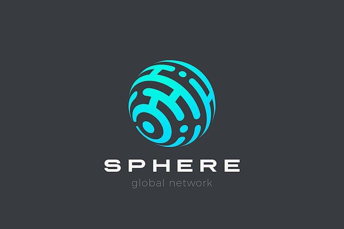 Thumbnail for Сфера Логотип Круг абстрактного дизайна технологии