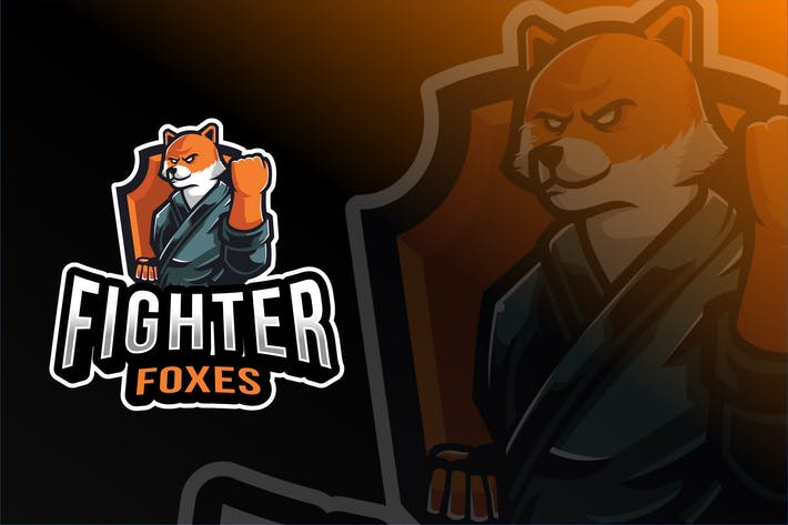 Fighter Foxes Esport Logo Template