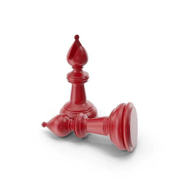 Chess Bishop Red