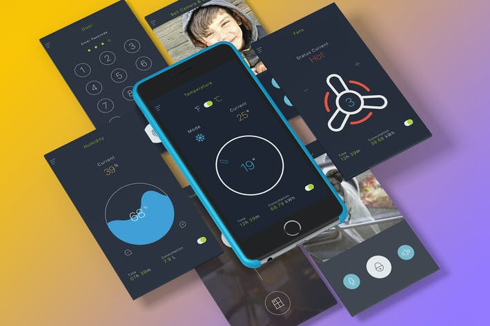 Thumbnail for Smart Home Sketch UI Kit