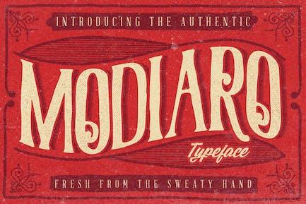 Modiaro Vintage Logo de la marca tipografía